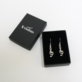 G key Sterling silver earrings