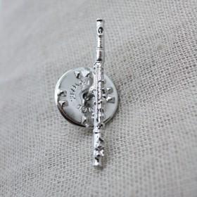 Flute 3D Lapel Pin
