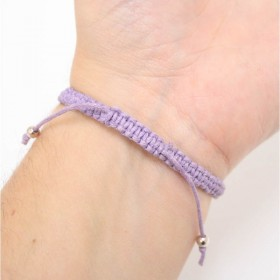 Treble Clef bracelet sterling silver lilac