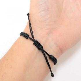Semiquaver bracelet sterling silver black