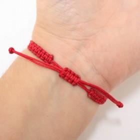 Semiquaver bracelet sterling silver red
