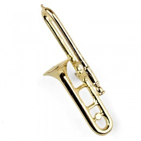Trombone Lapel Pin (gold-plated)