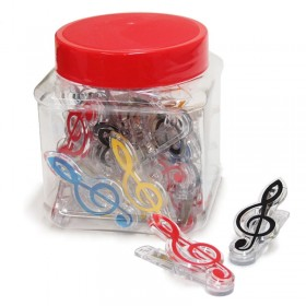 Treble Clef clip canister (20 units)