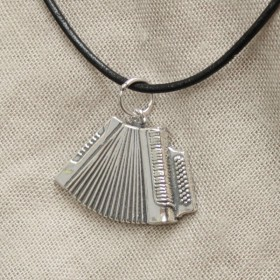 Accordion Pendant Sterling Silver