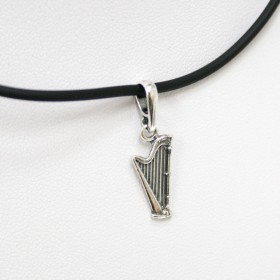 Harp Pendant Sterling Silver
