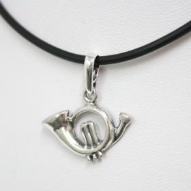 Horn Pendant Sterling Silver