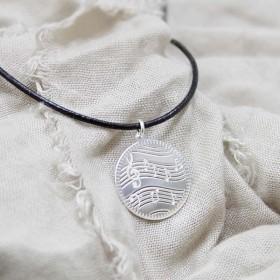 Music Score Pendant (sterling silver)