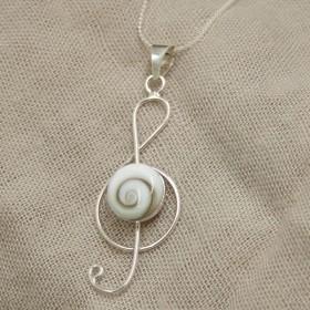 Shiva Treble Clef Pendant (Sterling Silver)