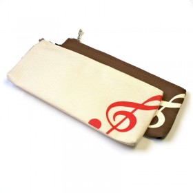 Treble Clef pencil case zipper