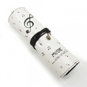 Treble Clef roll-up pencil case