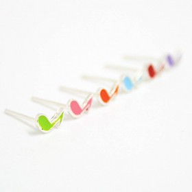 Quaver mini earrings Sterling Silver, colors