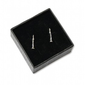 Flute mini earrings (sterling silver)