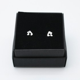 Semiquaver mini earrings (sterling silver)