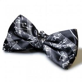 Black Score Bow Tie