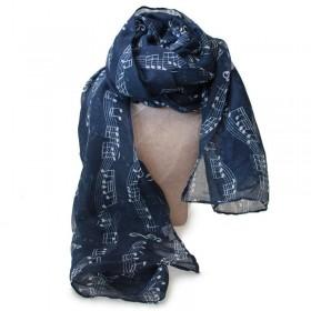 Blue scarf, music score