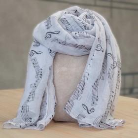 White scarf, music score