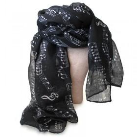 Black scarf, music score