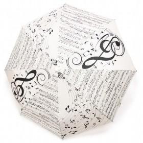 White Treble Clef Umbrella
