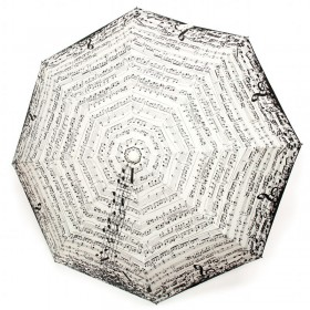 White Music Score Umbrella