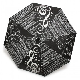 Black Treble Clef Umbrella