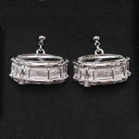 Snare Drum 3D Pierced Earrings