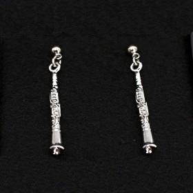 Clarinet 3D pierced earrings