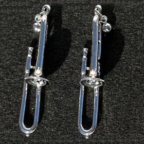 Trombone 3D pierced earrings