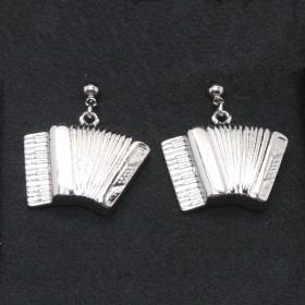 Accordion 3D Pierced Earrings