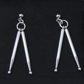 Drum sticks 3D Pierced Earrings