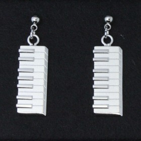Keyboard 3D Pierced Earrings