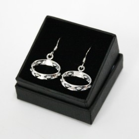 Tambourine earrings (sterling silver)
