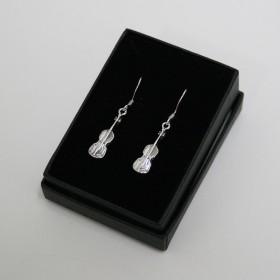 Violin earrings (sterling silver)