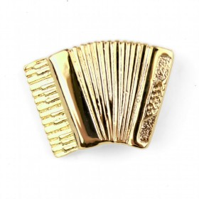 Accordion Lapel Pin (gold-plated)