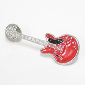 Guitar Lapel Pin Epiphone red