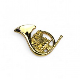 Horn Lapel Pin (gold-plated)