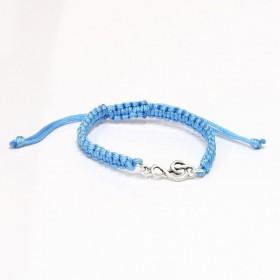 Treble Clef bracelet sterling silver blue