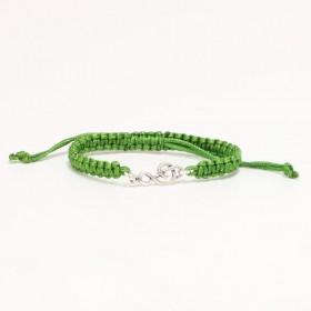 Treble Clef bracelet sterling silver green