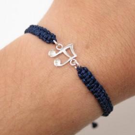 Semiquaver bracelet sterling silver blue navy