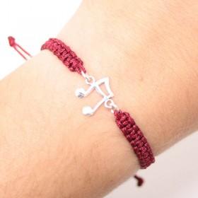 Semiquaver bracelet sterling silver bordeaux