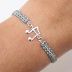 Semiquaver bracelet sterling silver grey