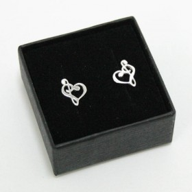 Treble and Bass Clef mini earrings (sterling silver)