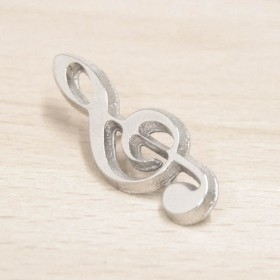 Treble Clef Lapel Pin metal