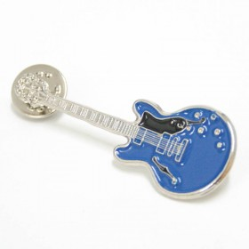 Guitar Lapel Pin Epiphone blue