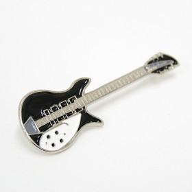 Guitar Lapel Pin Rickenbacker black