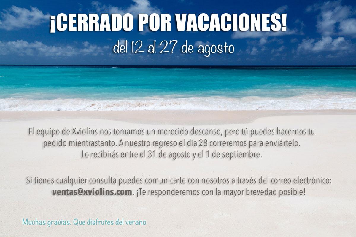Vacaciones  - Xviolins Regalos Musicales